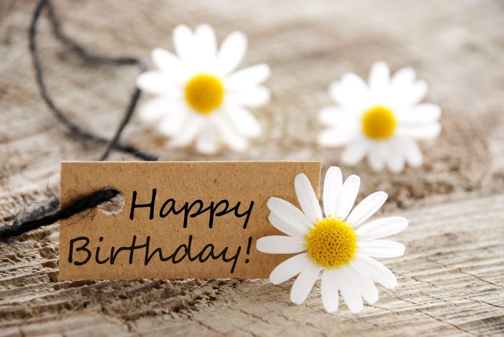 Tillykke med fødselsdagen på mærkat